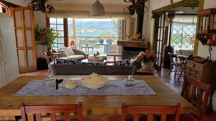 Casa Campestre en Paipa con hermosa vista.