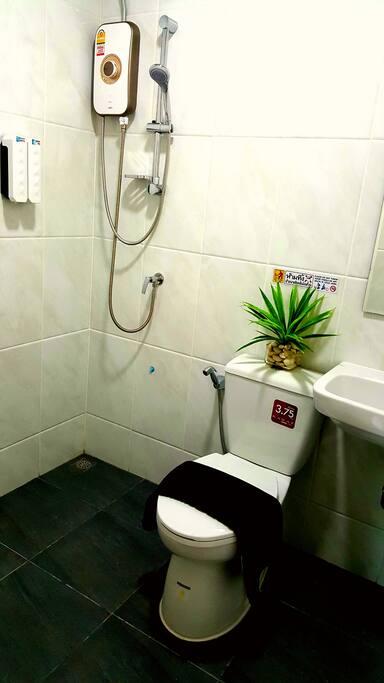 Water Heater in Restroom.