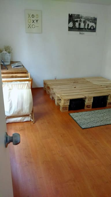 There's enough space in the floor as well so if needed, we can add an air mattress as well for extra guests