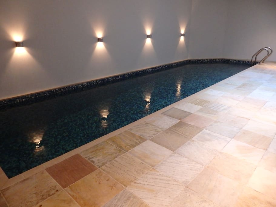 9 metre long swimming pool next to the guest room (not heated)