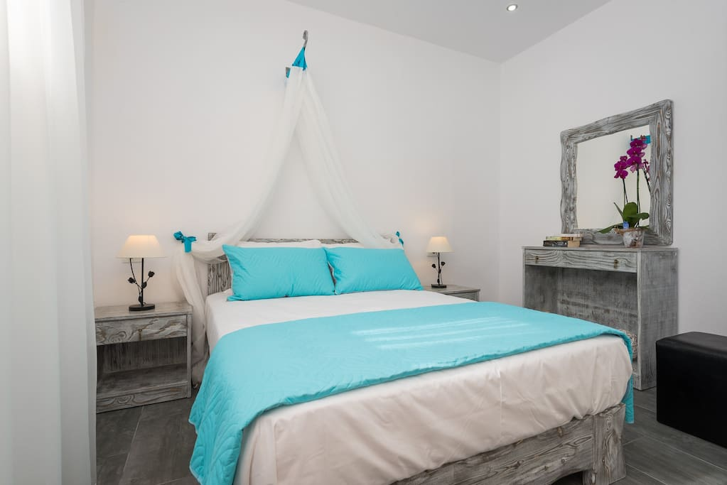 Romantic bedroom with traditional decor elements