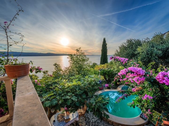 Villa Ina with pool and sea view