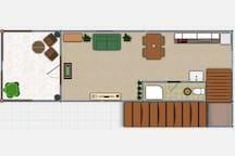 2D plan: 1-st floor
