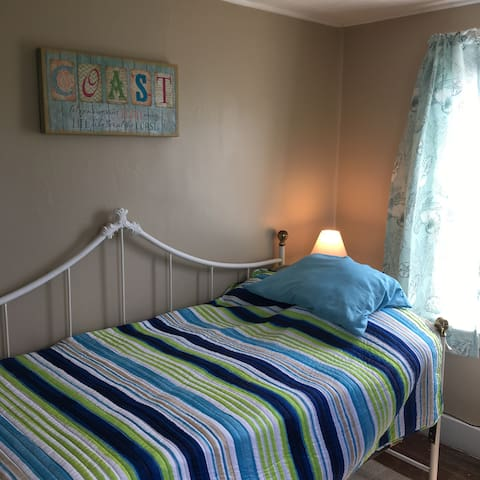 2nd bedroom has a daybed which sleeps 1 adult.