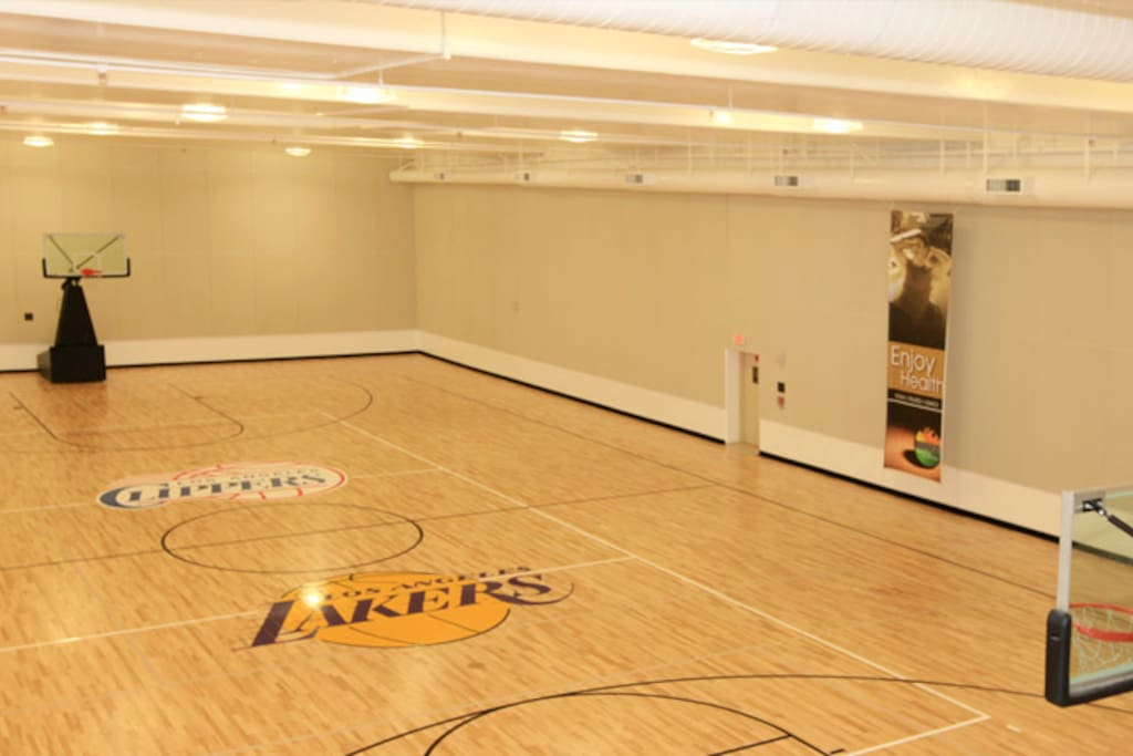 Private basketball court for you to get your morning started or play a pick up game!