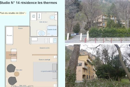Studio tranquille de 22m²  Résidence les thermes - Digne - Condominium - 1