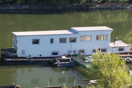 Sport / Hausboot in der Herseler Werth, nahe Bonn - Bornheim - Boat