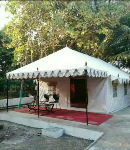 Shree Farm Tents with family & friends