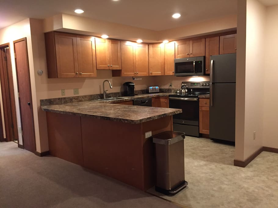 All new kitchen cabinets, counters, appliances, flooring.
