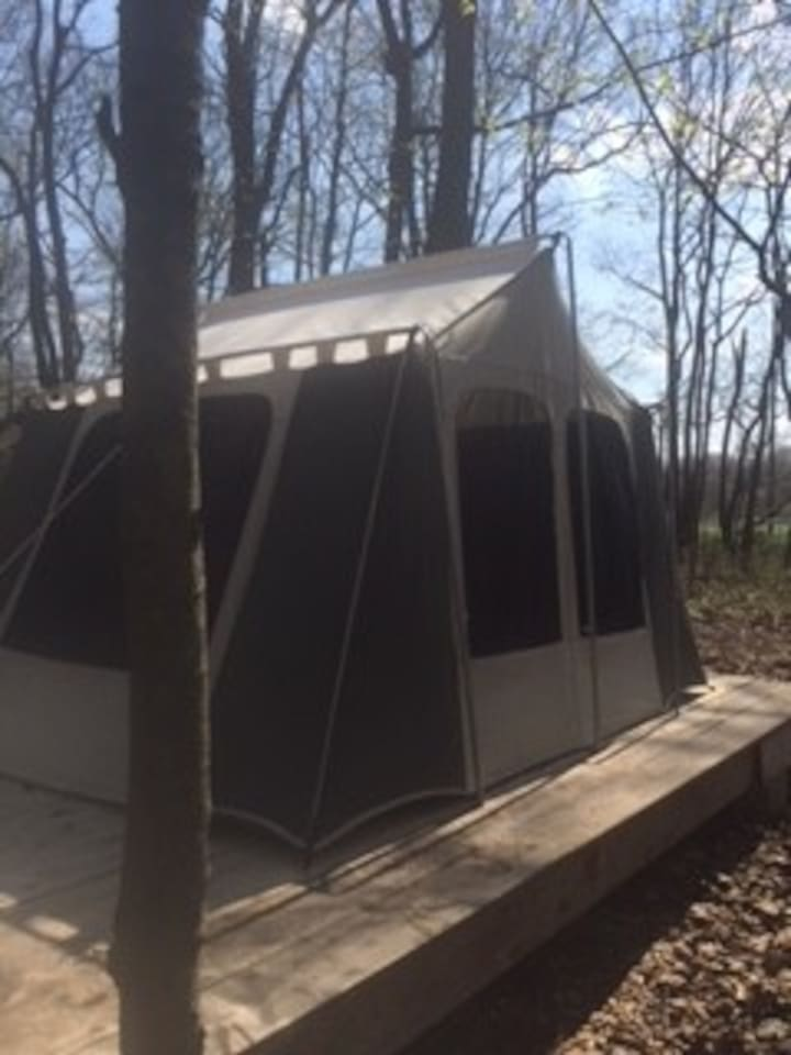 New Canvas tent side/back view