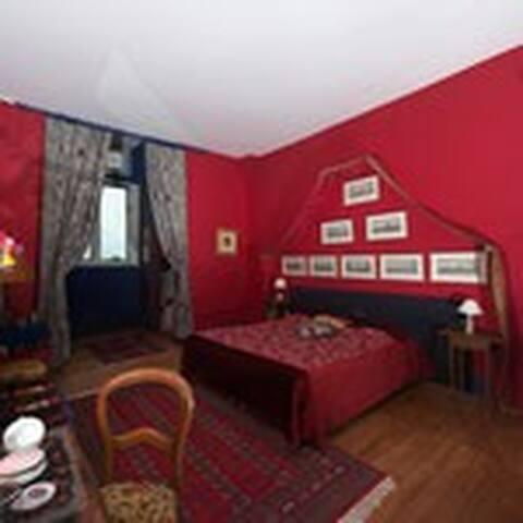 Chambre Marin château du Boisrenault - Buzançais - เกสต์เฮาส์