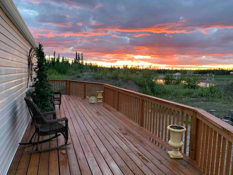 Lakehouse with Alaskan View