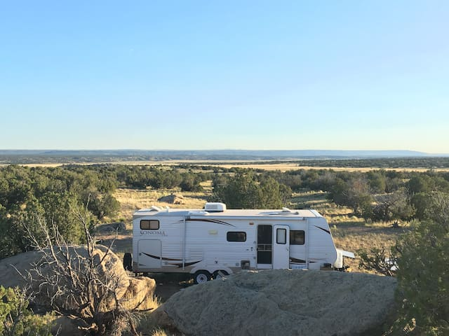 RV on 1,000 Acres Wilderness in New Mexico