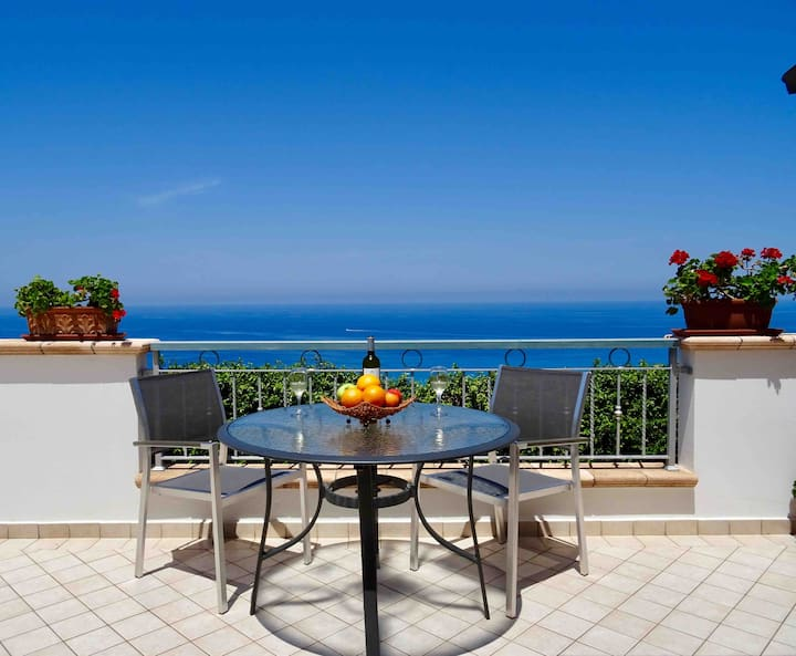 Modern private villa with sea views