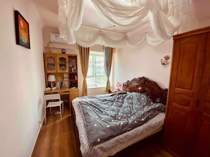 美家民宿二号房.日月广场.省政府.16平米.6室一厅的温馨公寓