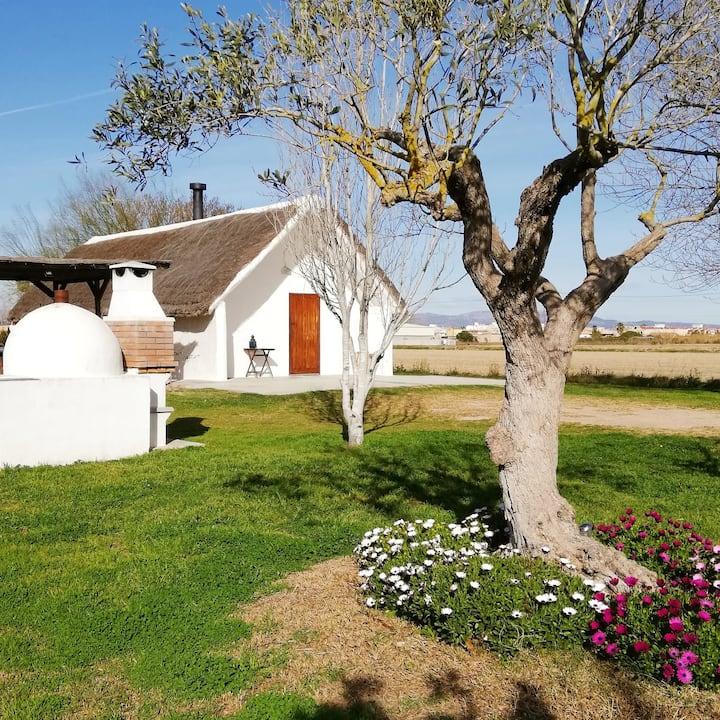 Casa tradicional en el Delta del Ebro