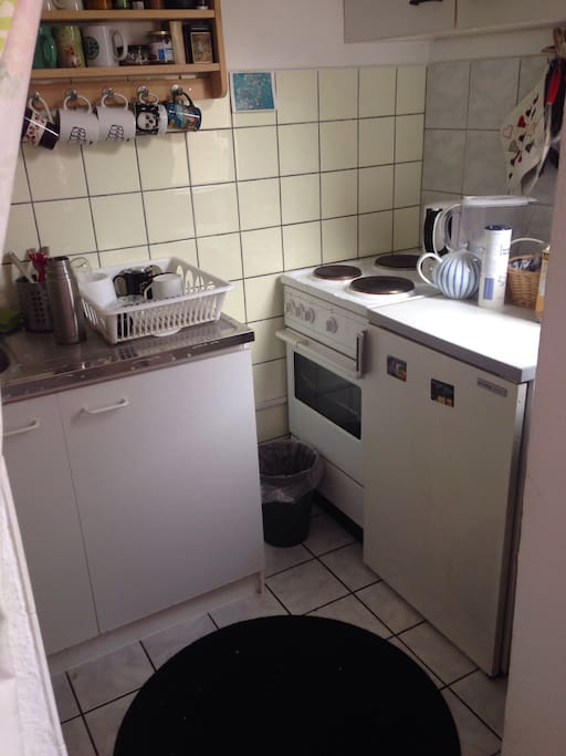 Das ist die kleine aber feine Küche :) Dort findet sich alles was man in einer Küche so benötigt.