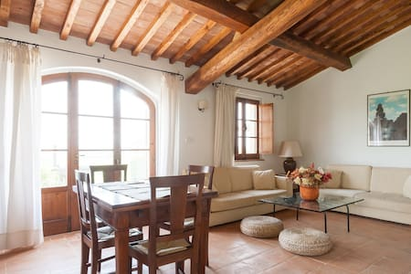 Country house with view to Cortona