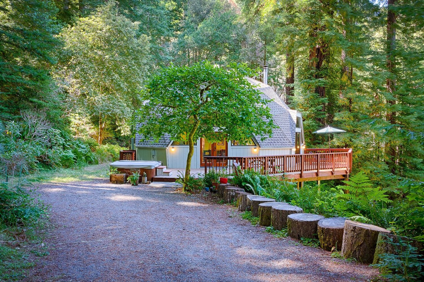 Welcome to the Redwood Dome -- a geodesic dome retreat in the heart of Russian River and the redwoods