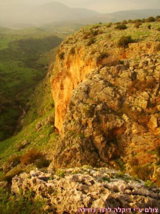 Wadi Amud cliffs. one of many short hikes aroud the village