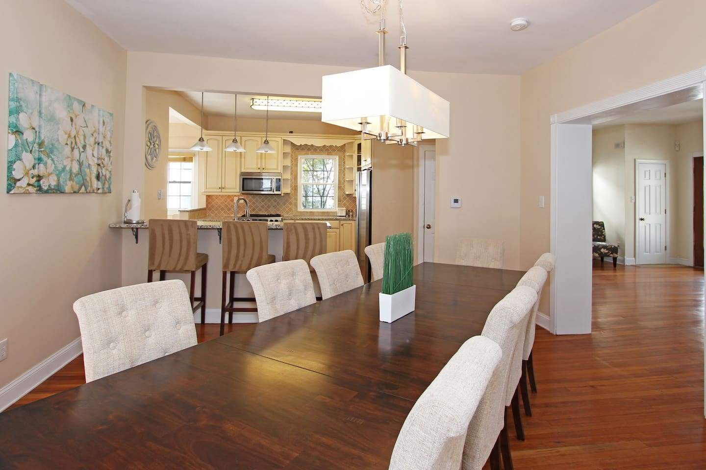 Dining and kitchen area