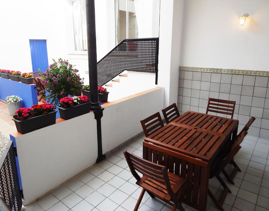 Our lovely patio with a private terrace