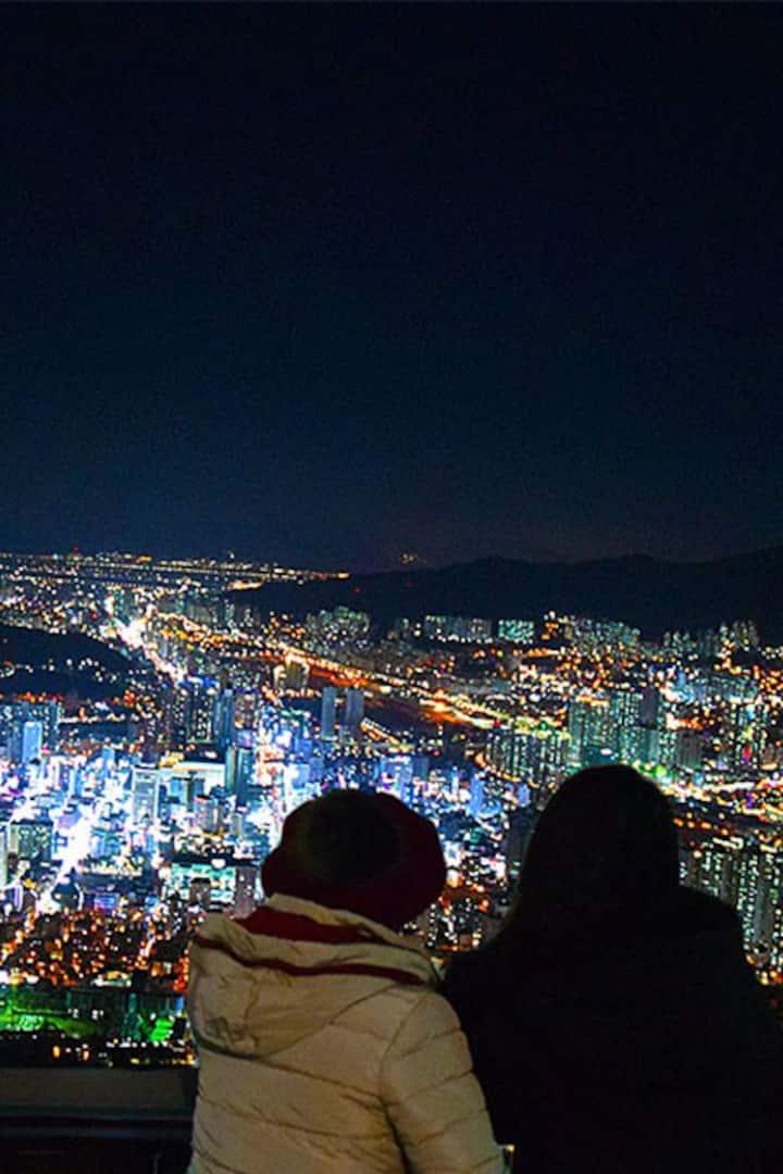 Busan City Night View .Hwangryeon M.T
