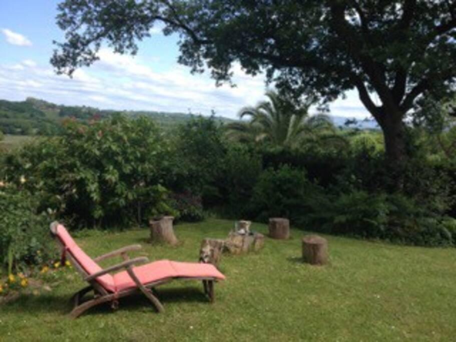 Farniente au jardin, calme et détente