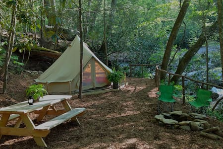 WNC Glamping Tent-Cabin by River #9 - Telt