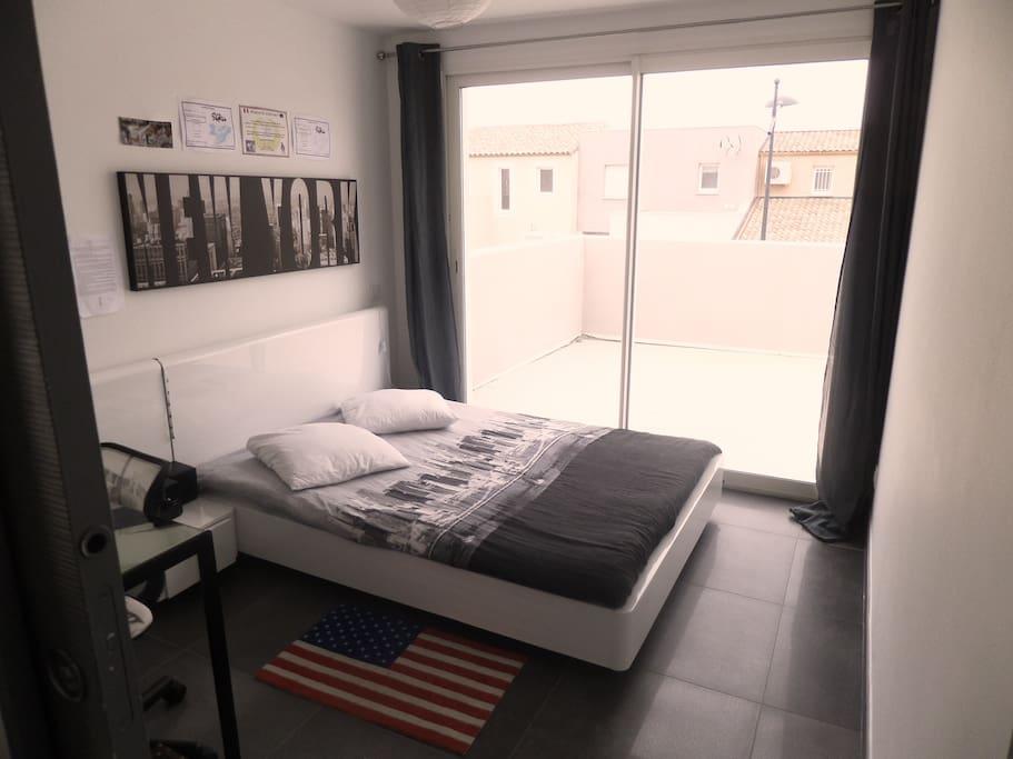 Chambre 2 personnes avec terrasse