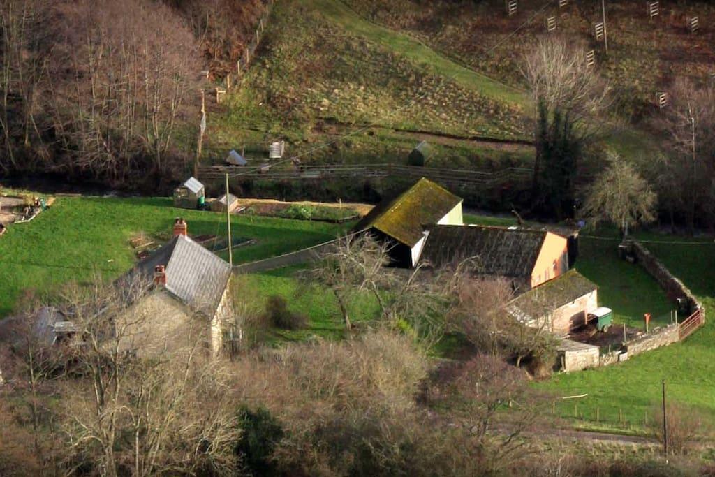 Our farm, an aerial view