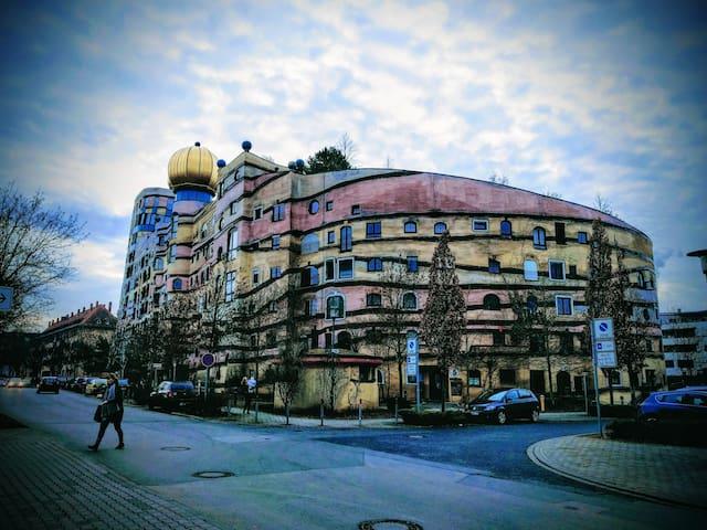Hundertwasserhaus-ganze Unterkunft! - Darmstadt - Lejlighed