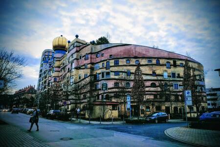 Hundertwasserhaus-ganze Unterkunft! - 达姆施塔特(Darmstadt) - 公寓
