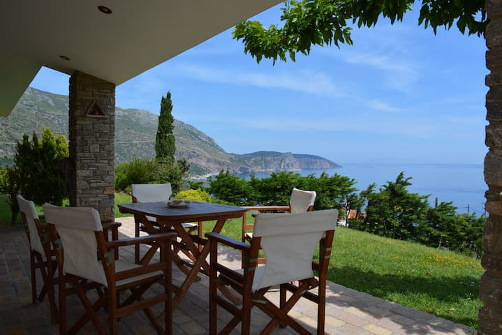 Evia stunning villa breathtaking views - Korasida - Casa