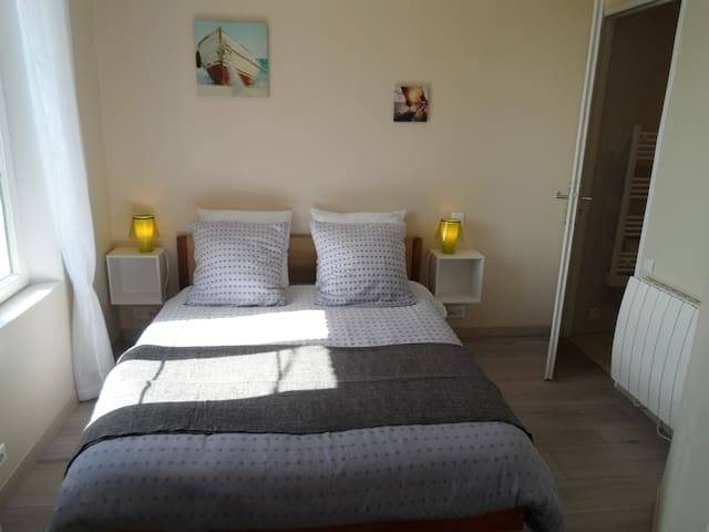 "CHAMBRE A L'OREE DU LIN ""Galet"" - Mentheville - Bed & Breakfast"
