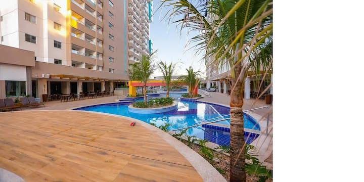 7 Pessoas Olímpia Park Resort 2Qto, Sala, Coz.Amer