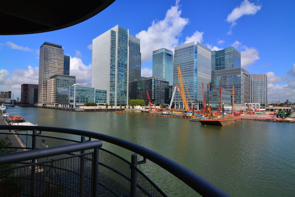 View From Balcony at Canary Wharf