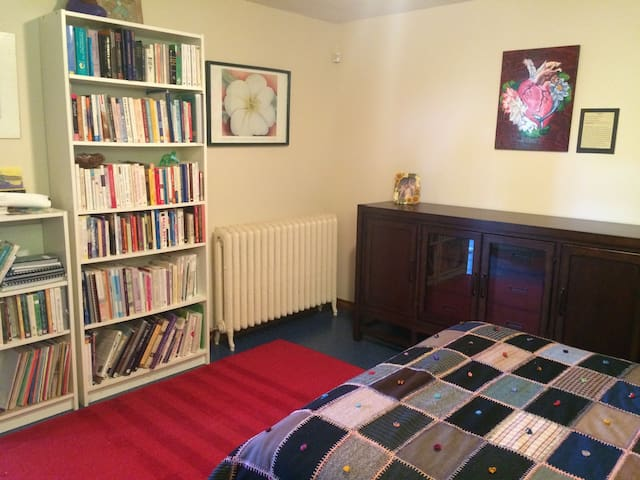A few of the owners books still reside here -for your interest!