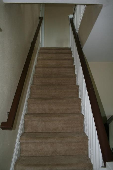 The stairs (they give you a little thigh workout every time you walk up them)  :-)