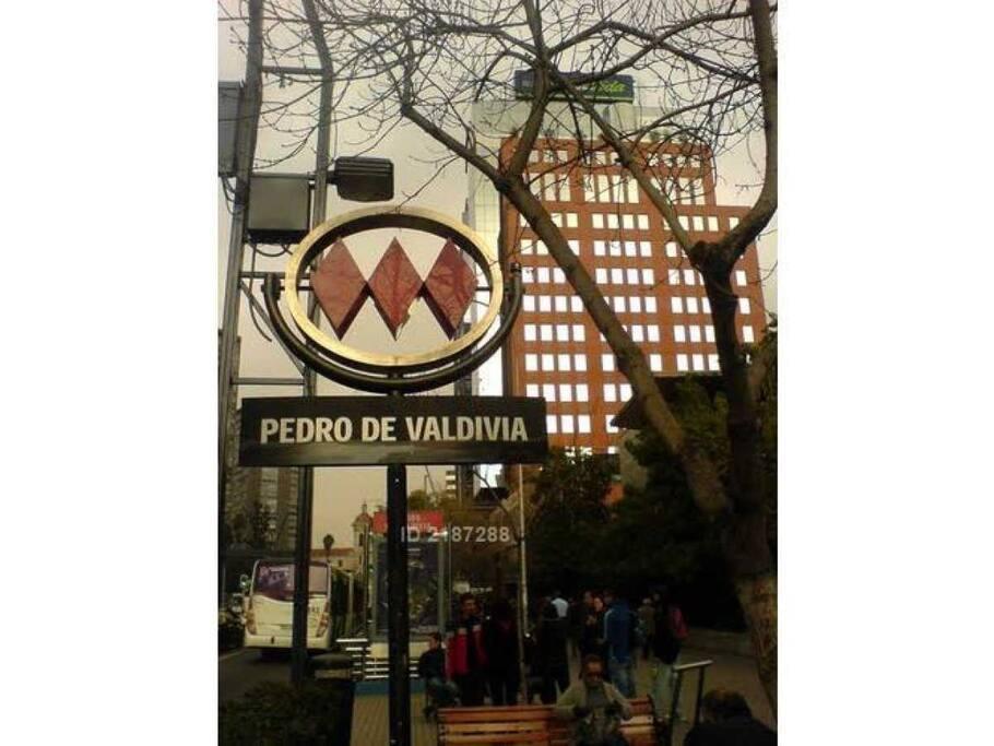 A pasos del Metro Pedro de Valdivia.