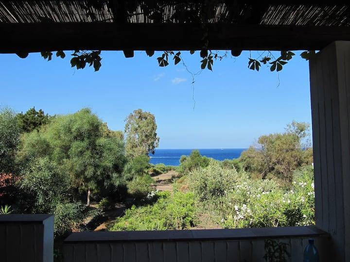 Vulcano blu terrace and sea view