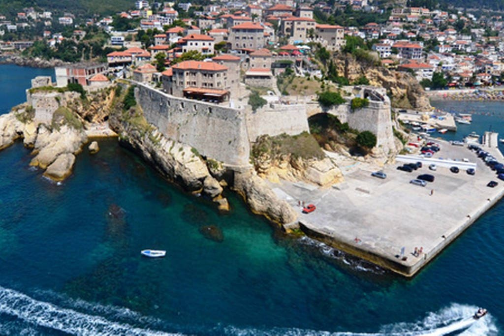 General view of the old city of Ulcinj