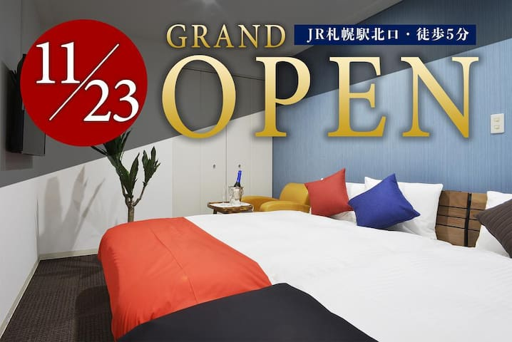 SS-J4) 6ppl Room ★SapporoSt. 5min walk★WiFi