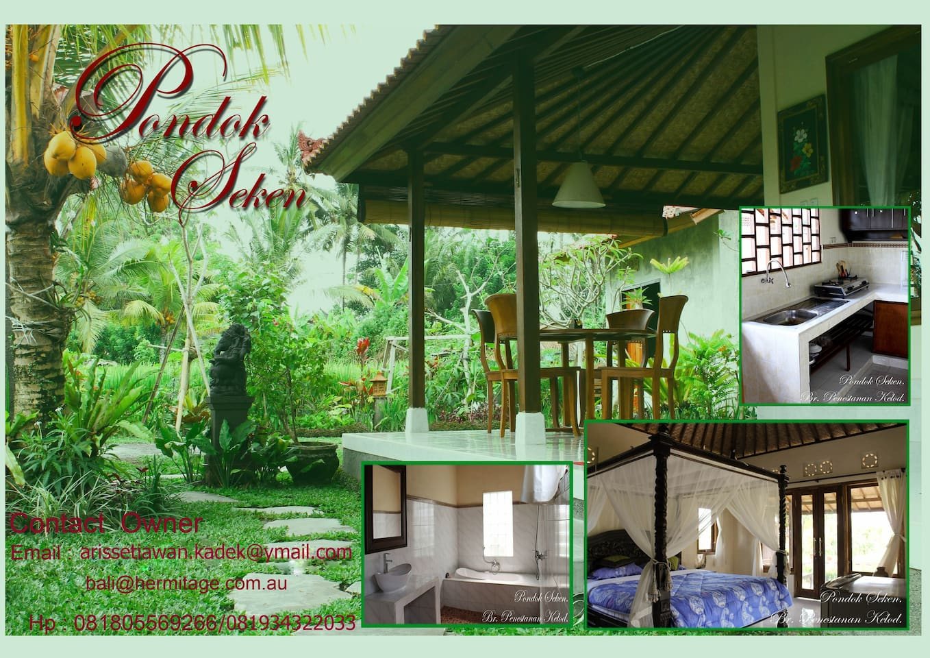 Real Balinese Home Stay with Kitchen