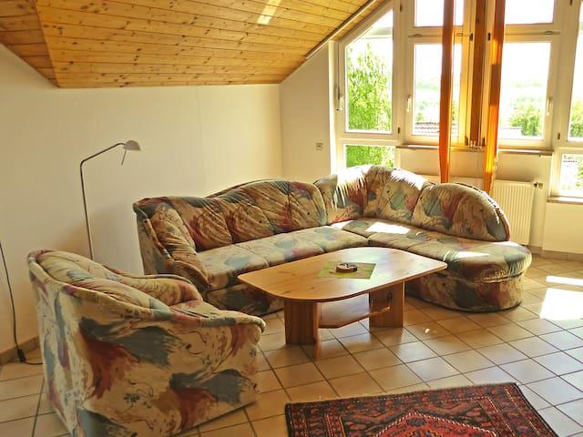Haus Sonntag, (Frickingen), Ferienwohnung 83qm, 1 Schlafzimmer, max. 2 Personen