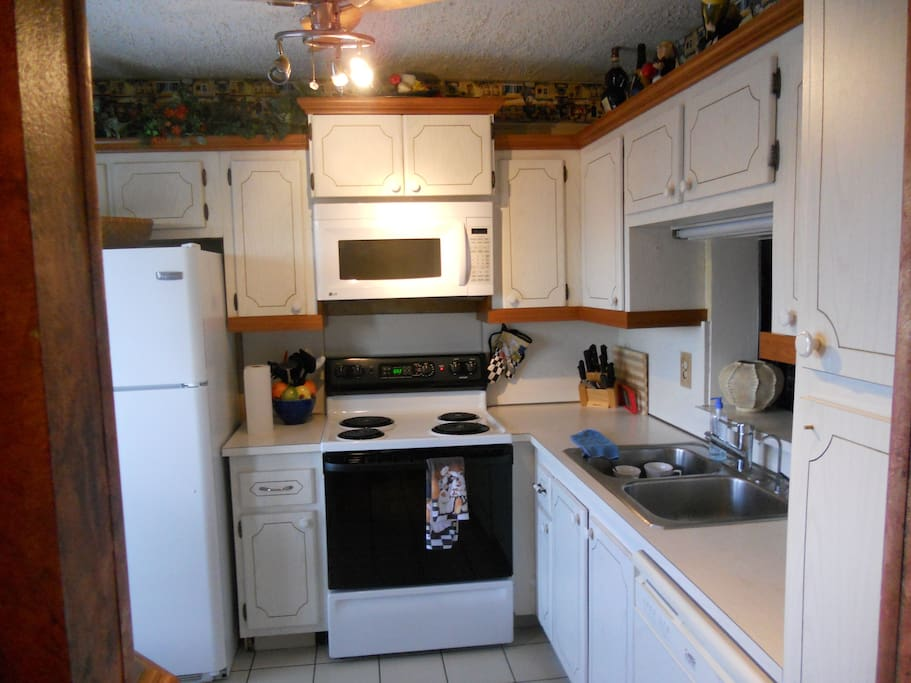 full kitchen with everything ,dish,silver dishwasher