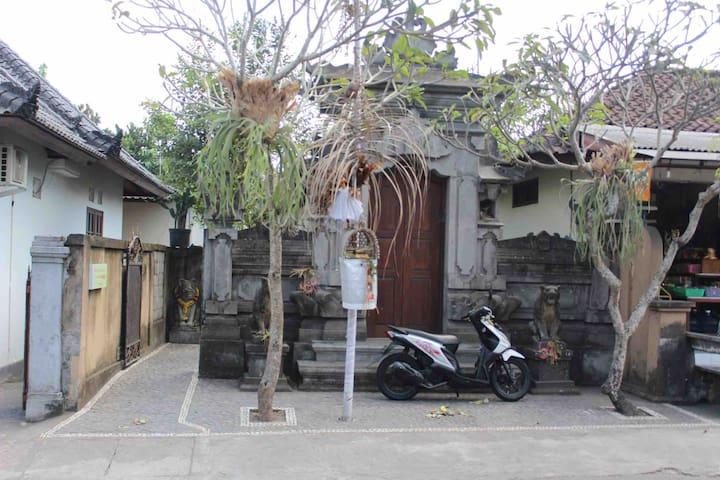 The front of the main gate house srana artha