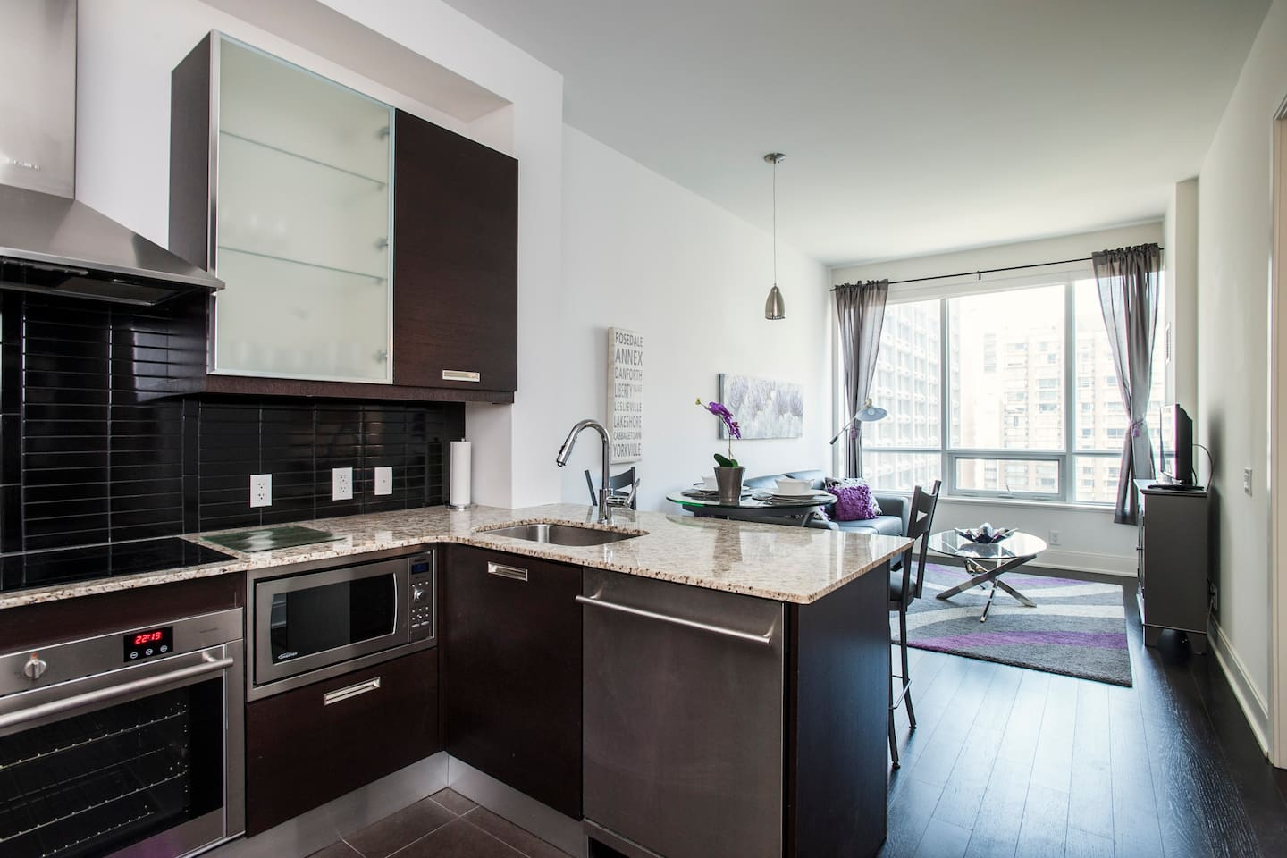 Open concept and Rich hardwood throughout