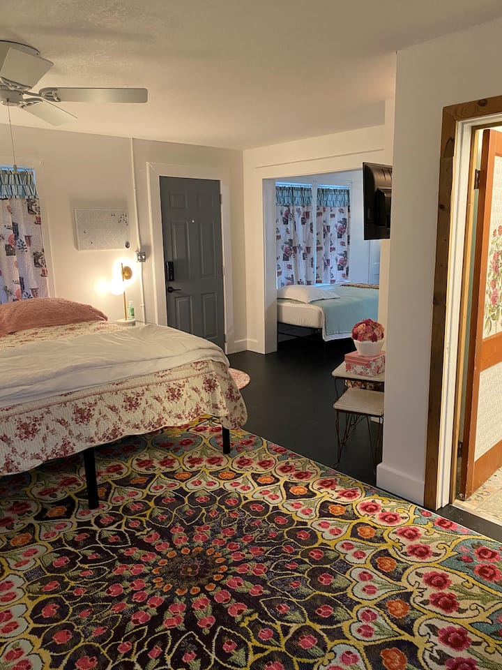 Quaint and clean room with a nod to the past.
