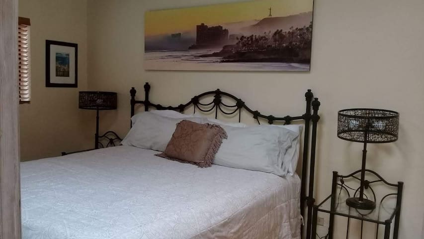 Upstairs North Bedroom with King Bed